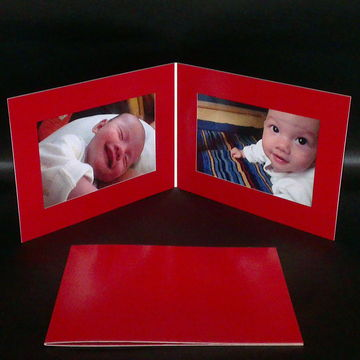 Double horizontal 4x6 Paper Photo Folder, it can also be as a photo ...