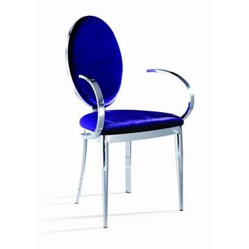 China 2016 New Modern Hot Fashion Dining Chair Stainless Steel Armchair Luxury