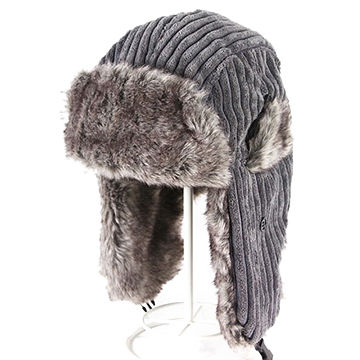 8e0b2bf7bed3 Customized Flannel Winter Faux Fur Leifeng Style Trapper Hats ...