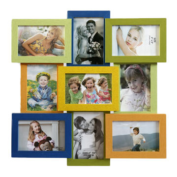 MDF combined photo frame for family, available in various colors ...