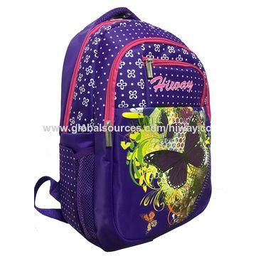 ... China Stylish Kids Printing Polyester School Backpack For Children  School Book Bag ... 1fc21631adb25