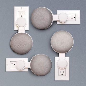 Details Kitchen Bedroom Wall Mount Holder Hanger Stand Grip For Google Home Mini