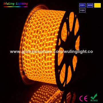 5050 led rope light orange color6mm width pcb ac 220vac110v china 5050 led rope light orange color6mm width pcb ac 220vac110v aloadofball Image collections