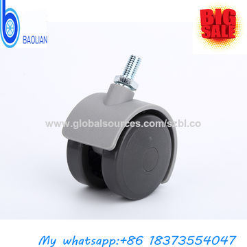 China Furniture Caster Type Twin Wheels Threaded Stem 2 Small