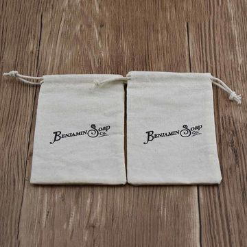 China Organic Natural Small Dust Soap Bread Jewelry Bean String Pouch Cotton Muslin Bag