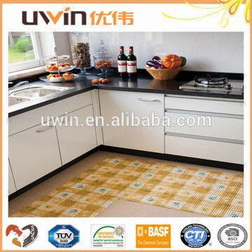 Plastic carpet washable floor mat easy care foam PVC Kitchen floor ...