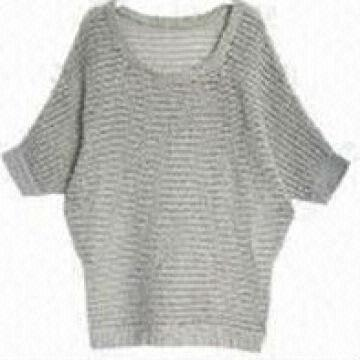 3768aad9e China hand knit white latest design wool knitted ladies Sweater