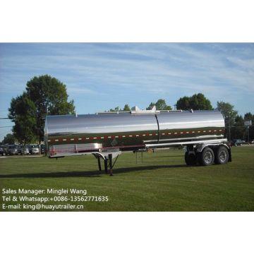 Stainless Steel Tanker Trailer for Liquid sulphuric acid Chemical