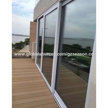 Soundproof Exterior Aluminum Doors 612a6 Hollow Glass 3 Panels 3