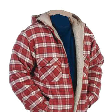 limited price top-rated professional latest discount China Men's hoody flannel fleece lined padded work shirt ...