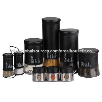 China Kitchen storage canister set for coffee, sugar, salt ...