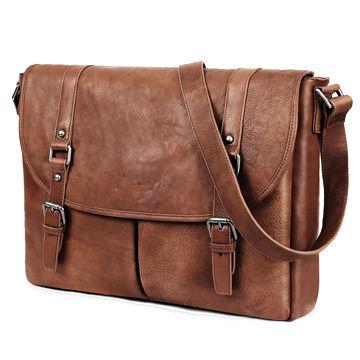 China 13.3-inch Style Satchel Genuine Leather Messenger Bag for Men ... b36e6e96e1