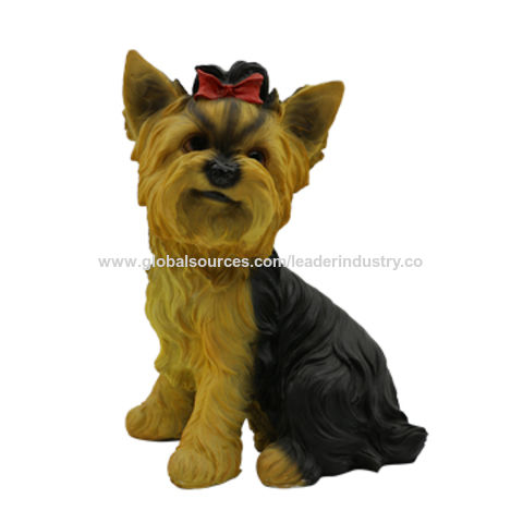 Polyresin Yorkie Terrier Dog Statues China