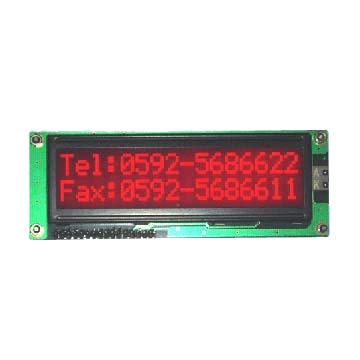 El módulo 16*2 del LCD del carácter alinea modo azul de STN con el contraluz rojo