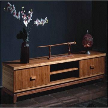 China Multiple Finishes Bamboo Tv Stand In Living Room