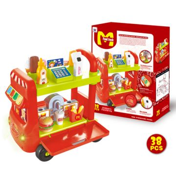 e115377e679 China Multi-function plastic food truck toys play kitchen toy for children