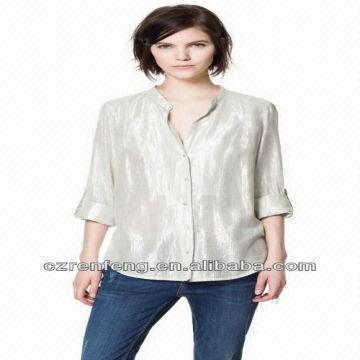 Lady Formal Blouse Designs with Long Sleeve#b9893 | Global Sources