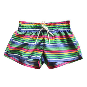 380e0335b0 China Young Ladies' Rainbow Beach Shorts Swimming Trunks with Waist Drawing  String ...