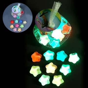 glow in the dark glass stones in star shape global sources