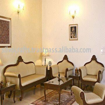 Jodhpur Rajasthan Wooden Hand Carved Maharaja Sofa Set (carved Furniture From India) | Global Sources