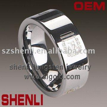 tungsten firefighter wedding bands laser - Firefighter Wedding Rings
