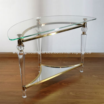 China Antique Half Round Table Japanese Short Leg Table 2 Tiers Low Table For Small Space On Global Sources Short Leg Table Transparent Table Low Table