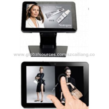 China Retail Tablet Display, Capacitive Multiple Touch with G+G Structure for Industrial Use