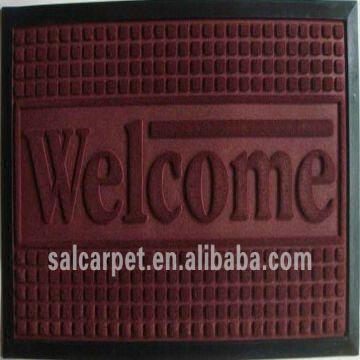 Polyester Welcome Carpet Rubber Edging China Polyester Welcome Carpet Rubber Edging