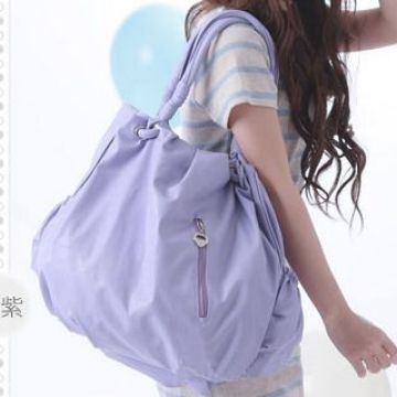 b943e399fe06 China soft leather purse shoulder bag large handbag hand bag tote light  purple blue new fold