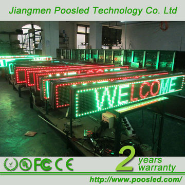 China Semi Outdoor Led Display Electronic Message Boards For Schools A Rs232