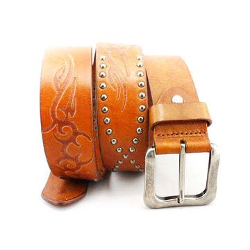Vintage Western Inspired Leather Belt