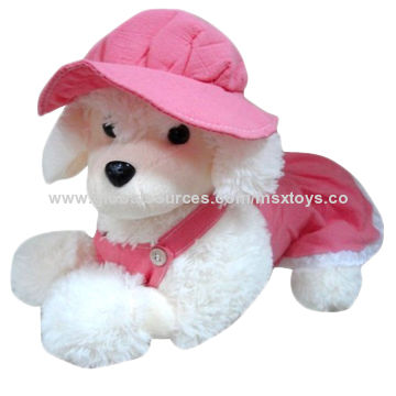 China Valentineu0027s Day Dog Plush Toys For Gifts With Pink Wearing Cloth