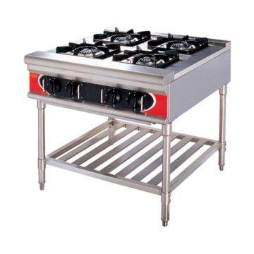 Kindelt commercial kitchen free standing stove with 4 burner ...