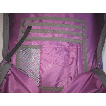 China Trolley backpack, Made of 600D/PU ,with hot- transfer Printing, with Large Main Compartment