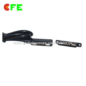 China Customized 4-pin male and female magnetic pogo pin USB connector, charging cable
