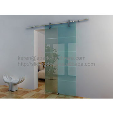 Stainless Steel Frameless Interior Tempered Glass Sliding Door