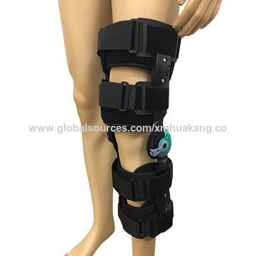 3ac2cb60a4 China Telescope post-op knee brace / Adjustable ROM knee support with foam  pad immobilizer ...