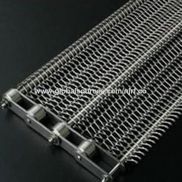 China New arrival custom design stainless steel chain link conveyor