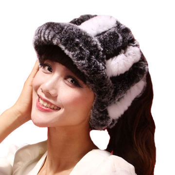 winter rabbit hat fashion sexy rex rabbit fur hat air top cap Visors ... a8595176972