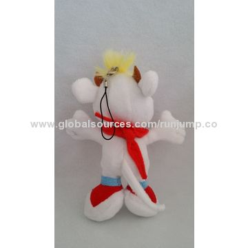 China cute soft plush white standing baby cow toy, made of soft plush and PP padding, suitable for promo