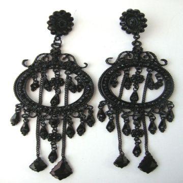 Black large danglers antique chandelier earrings global sources black large danglers antique chandelier earrings china black large danglers antique chandelier earrings mozeypictures Images
