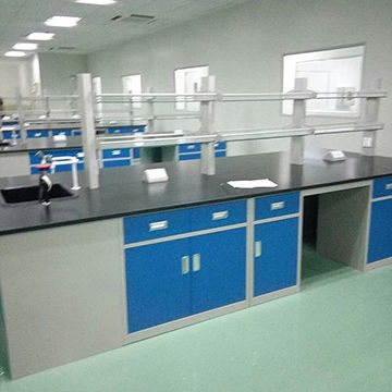 Chemical resistant lab furniture, steel lab bench, lab table