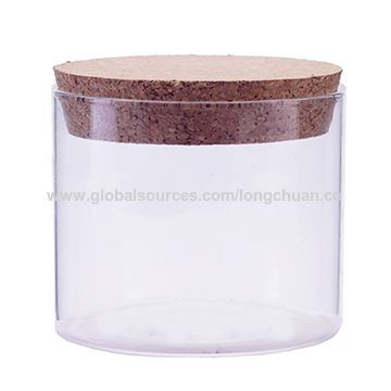 Unique Empty extra large food glass jar with cork lid wholesale | Global  ZQ98
