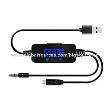 USB 3.5mm Phone Audio FM Transmitter for Car Audio Music Player MP3 MP4