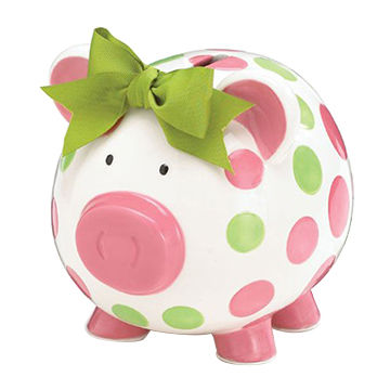 China Pink Ceramic Piggy Bank Baby Gift Home Decor From Xiamen