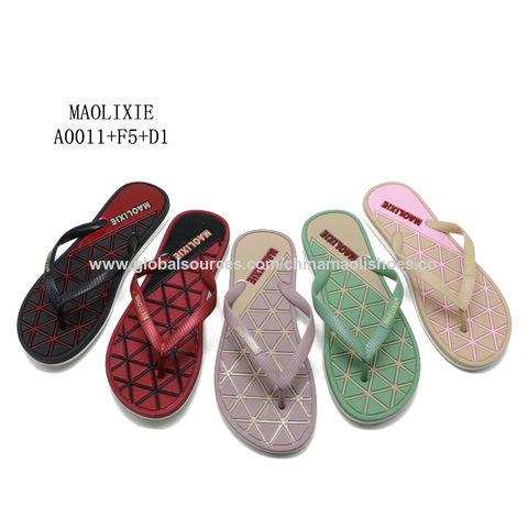 03460302b China Ladies sandal women foot massage plastic slippers pcu flip flops ...