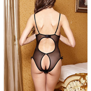 Hong Kong SAR Teddies sexy lingerie, made of polyester, customized design and logo is accepted