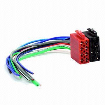 Car Wiring Harness, ISO (Male)/Universal Adapter Power and ... on automobile cable harness, automobile engine, automobile wiring block, auto wire harness, dual car stereo wire harness, automobile wiring guide, automobile owners manual, automobile wiring connectors,