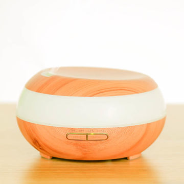 China 300mL AN-0492 7 Wood Grain Ultrasonic Diffuser for Essential Oils