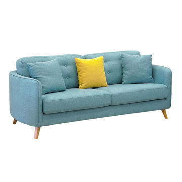 China Fabric Sofa With Wooden Legs From